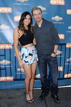 "Youtuber/Dancer Bethany Mota and her DWTS partner, Derek Hough, at the ""Extra"" event in Los Angeles, California on November 6, 2014.  -UpdatingMota on Twitter"