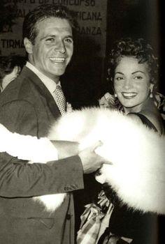 Paco Rabal, Carmen Sevilla. Festival Internacional de Cine de San Sebastián 1954