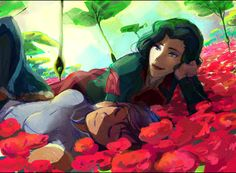 The Legend of Korra- oh I like this one. You don't see any pics of them together much