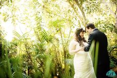 First looks are so romantic!  Perfect summer wedding day for this glowing bride and groom at Hartley Botanical Garden in Somis California