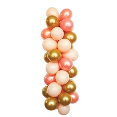 LOVESOME Pink Peach and Gold Latex Balloons by LuftBalloonStore