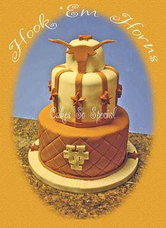 Longhorns of Texas cake