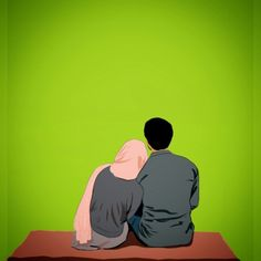 Love Cartoon Couple, Cute Love Cartoons, Anime Love Couple, Cute Couple Drawings, Cute Couple Art, Cute Muslim Couples, Cute Couples, Muslim Couple Photography, Photography Poses