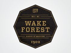 Wake Forest designed by Matthew Cook. Connect with them on Dribbble; Typo Design, Graphic Design Typography, Branding Design, Wake Forest, Forest School, Brand Board, Logo Inspiration, Brand You, Logos