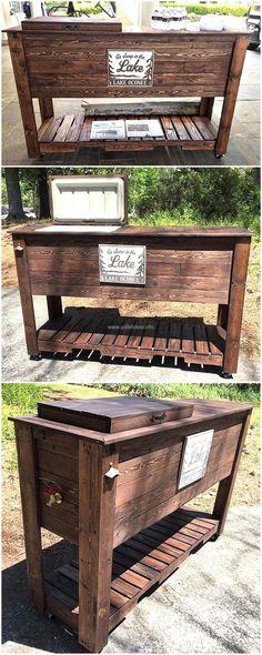 wooden pallets made cooler