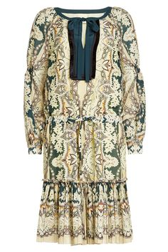 Etro - Printed Mini Dress with Cotton and Silk