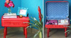 Faça você mesmo: transforme uma mala velha em uma mesa fashion - Casa