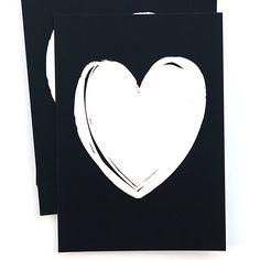 Ansichtkaart uit de webshop: Heart zwart.