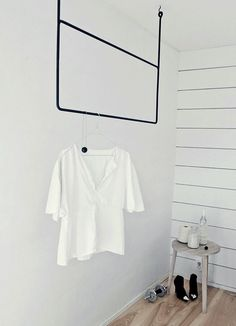 Sculptural Clothing Rails ideal for small spaces or as a coversation piece in a foyer.