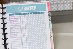 How to put together a budget or finance binder to stay organized with bill paying and family finances.