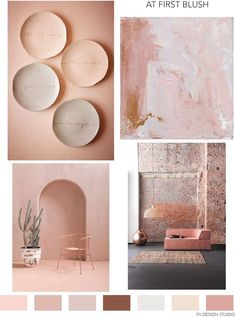 Ralph Russo, Jonathan Simkhai and Alexander McQueen - SS BHLDN ceramics and brick interior Trio by Corsitz Moebel.