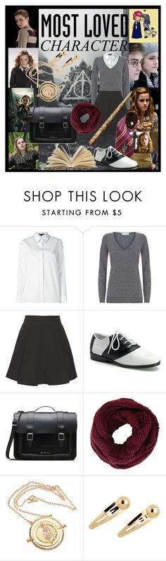"""""""Wits and bravery to use them"""" by eking1989 ❤ liked on Polyvore featuring Emma Watson, Alexander Wang, Damsel in a Dress, Milly, Elope, Funtasma, Dr. Martens, BCBGMAXAZRIA, harrypotter and books"""