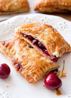 Simple Cherry Pastry Pies - Full Cravings