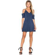 keepsake Slow Motion Mini Dress (289 AUD) ❤ liked on Polyvore featuring dresses, cut-out dresses, blue cutout dress, cutout dresses, rayon dress and cutout mini dress