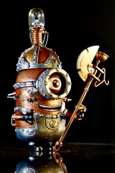 - Steampunk Minion by Dame Berta. Steampunk Pirate, Steampunk House, Steampunk Cosplay, Steampunk Wedding, Steampunk Fashion, Minions, Steampunk Accessories, Dieselpunk, Steam Punk