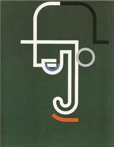 Walter Dexel, portrait of Julius Klinger, 1932 Frank Stella, Architecture Student, Art Abstrait, Geometric Art, Op Art, Symbols, Letters, Graphic Design, Black And White
