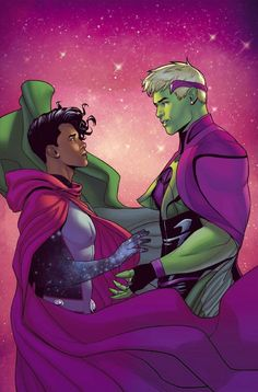 Young Avengers, New Avengers, Marvel Fan Art, Marvel Dc, Wiccan Marvel, Teddy Altman, Romance Art, Comic Styles, Scarlet Witch
