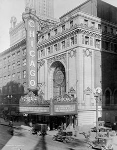 Chicago Theater, 175 North State Street, 1927. Photograph from Kaufmann & Fabry. ICHi-10987 #history #photography #chicago #chicagomuseum #1920s #chicagotheatre #architecture