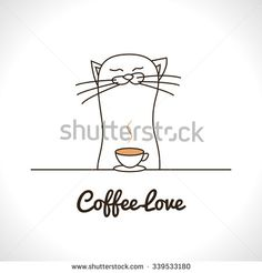 Find Cute Cat Sniffing Coffee Cup Adorable stock images in HD and millions of other royalty-free stock photos, illustrations and vectors in the Shutterstock collection. Animal Logo, Coffee Cups, Pet Logo, Cute Animals, Royalty Free Stock Photos, Cats, Pictures, Logo, Pretty Animals