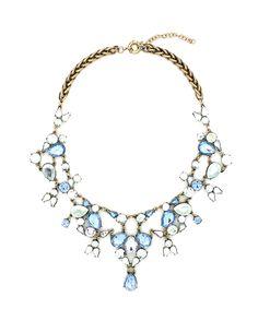 Look at this #zulilyfind! Dark Silvertone & Blue Doll Statement Necklace by Eye Candy LA #zulilyfinds