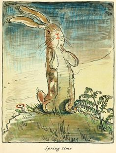 Spring Time Illustration from The Velveteen Rabbit William Nicholson