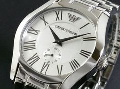 World classic handsome --> Emporio Armani Mens Watch Classic Stainless Steel Bracelet /Box AR0647 #EmporioArmani # $169.77