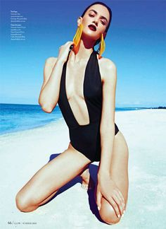 Sensual One Piece Swimsuits Fashion Photography