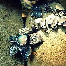 Náhrdelníky - Čierny kvet - 5478401_