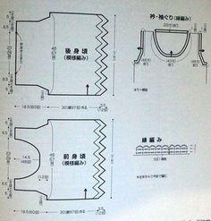 Вязание крючком - майка blusa con hexágonos 4