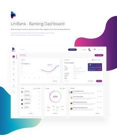 UniBank - Banking Dashboard by Team Dashboard Interface, Dashboard Design, App Design, Web Dashboard, Financial Dashboard, Finance, Ios, Ui Web, Web Design Inspiration