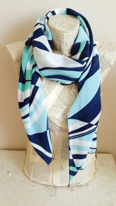 Blue Mint Scarf Holiday Fashion Christmas Gifts by HeraScarf