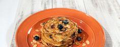 Greek Yogurt Pancakes with Blueberries and Honey Recipe by Michael Symon - The Chew
