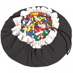 Play and Go Bag/Play mat - black Dark grey - Kids Bedroom Decor - Smallable