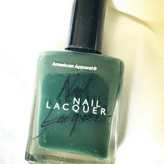 Lauren Conrads green American Apparel nail polish. #LaurenConrad #nails #nyfw