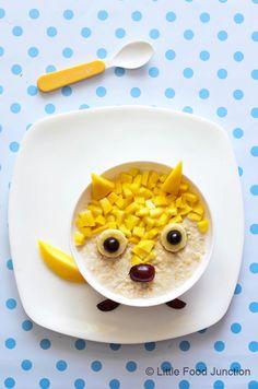 Oatmeal Fun- mango oatmeal civet cat
