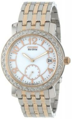 "Relógio Citizen Women's EV1016-58A ""Eco-Drive"" Stainless Steel Watch with SWAROVSKI Crystal Accents #relogio #citizen"