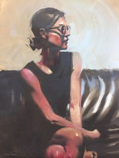"Michael Carson, ""Relaxed Tension"", 20"" x 16"" Bonner David Galleries Oil on Panel"