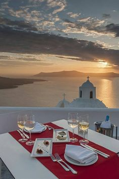 Wine with a view in Oia village, Santorini island, Greece. - selected by www.oiamansion.com