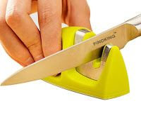 AtlasTopNews New Technology Science : Kitchen Knife Sharpener Two Stages (Diamond & Cera. Kitchen Knives, Kitchen Tools, Kitchen Gadgets, Kitchen Knife Sharpening, Home Inventory, Buy Tools, Soldering Iron, Pet Toys, Science And Technology