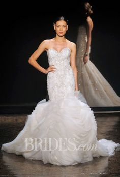 Brides.com: Lazaro Fall 2014 Sweetheart Embellished Wedding Dress | Click to see more from this collection!