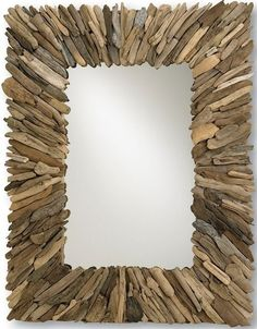 Beachhead Large Rectangle Driftwood Mirror