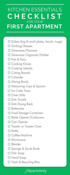 The Essential Items To Put On Your First Apartment Kitchen Checklist | What You Need To Buy For Your Kitchen