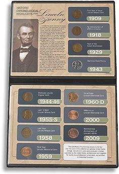 $27 ENDURING LINCOLN PENNY: Begins with the 1909 first year of issue Wheat Ear cent; includes the 1918 re-introduction of VDB on the reverse and the 1960-D small date Lincoln Memorial cent, and features two true rarities: a 1943 steel wartime penny and a wartime shellcase Lincoln copper cent minted between 1944 and 1946. Eleven pennies in all, in a display case with archival image, detailed narrative and Certificate of Authenticity.