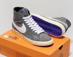Nike vintage high blazers grey/white/purple