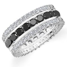 black and white diamond rings - Google Search