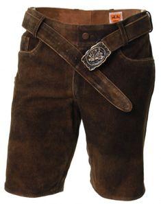 Lederhose ohne Stick mit Zipp, Ziegenleder, braun Jeans, Bermuda Shorts, Fashion, Fashion Styles, Brown Leather Pants, Get Tan, Moda, Fashion Illustrations, Denim