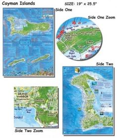 Franko Maps Cayman Islands Dive Map for Scuba Divers and Snorkelers -- You can get more details by clicking on the image.