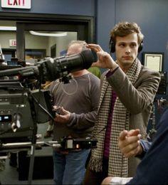 Matthew Gray Gubler directing an episode of Criminal Minds.