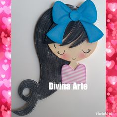 Aplique em e.v.a Doce Menina 7 Foam Crafts, Diy And Crafts, Arts And Crafts, Punch Art, Mail Art, Projects To Try, Patches, Cute, Cards