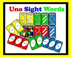 FREE Microsoft Word (changable) UNO sight word cards!! Please like my FB page and follow me on TpT https://www.facebook.com/#!/iTeachPrimary